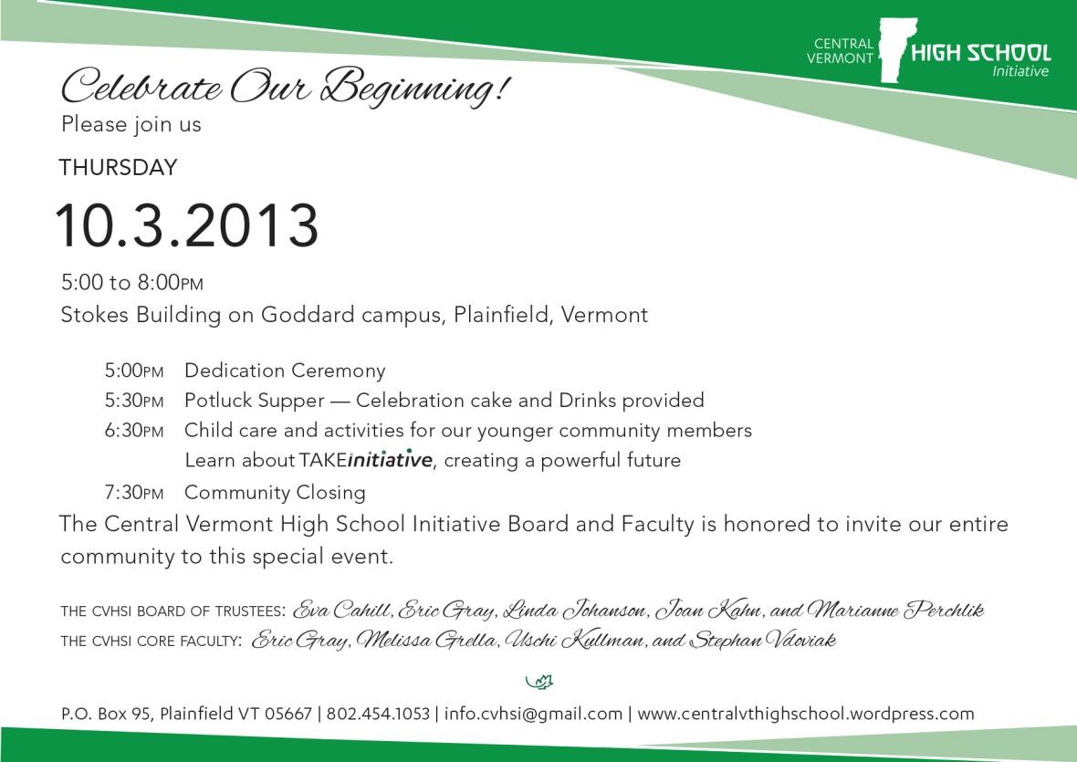 cvhsi dedication invite 2